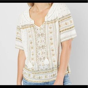 Lucky Brand Keyhole Tide Front Sz Med $59.50 NWT